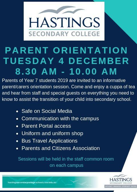 Parent Orientation Session