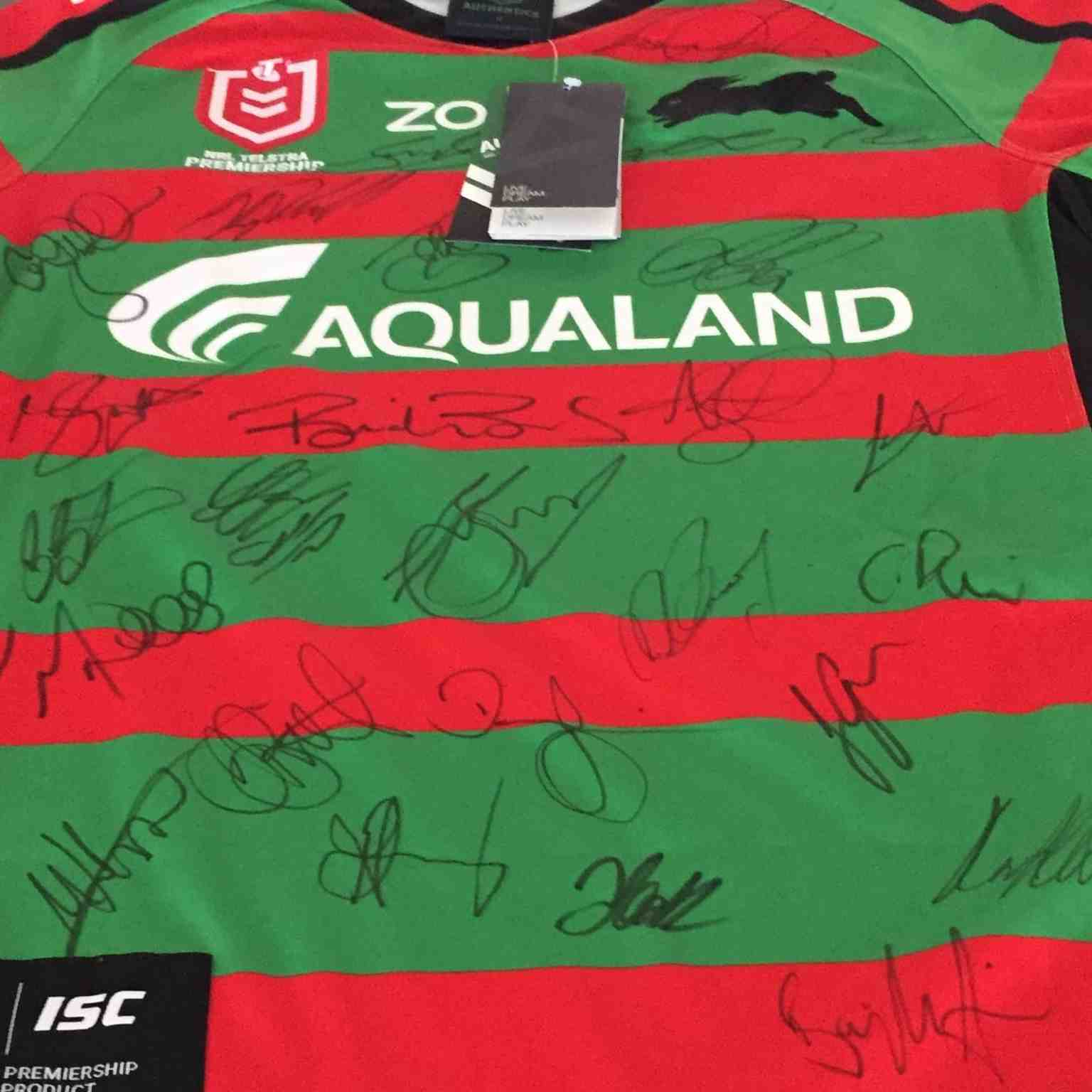 Silent Auction Rabbitohs Signed Jersey Hastings Secondary College