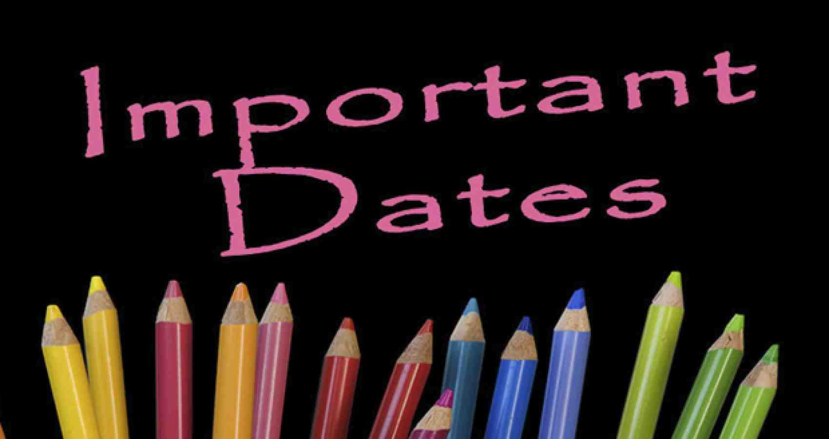 Important Dates Term 1